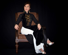 Ao Dai Den - Black Vietnamese Traditional Dress (Hai Tuoi) Tags: vietnamese vietnam viet nam o c en in i