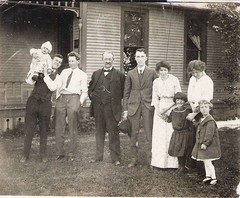 All together now (912greens) Tags: family houses homes yards men kids children women babies oldhouses groups 1900s houseexteriors folksidontknow