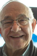 Ulysses (DWO630) Tags: old portrait man smile prime restaurant glasses richmond ulysses takumar50mm14 supermulticoatedtakumar11450mm supermulticoated11450mm