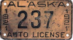 ALASKA 1921 license plate (woody1778a) Tags: world canada cars car sign alaska vintage edmonton photos tag woody plate tags licenseplate collection number photographs license plates foreign numberplate licenseplates 1921 numberplates licenses cartag carplate carplates autotags cartags autotag foreigns pl8s worldplates worldplate foreignplates platetag rareauto