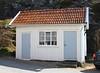 Shed (K Nilsen) Tags: blue red white building window doors sweden shed coastal sverige bohuslän outbuilding tiledroof grundsund västkusten skaftö