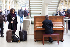Play us a song, piano man (Mister Rad) Tags: london piano strangers nikond50 stpancrasstation nikon50mmf18