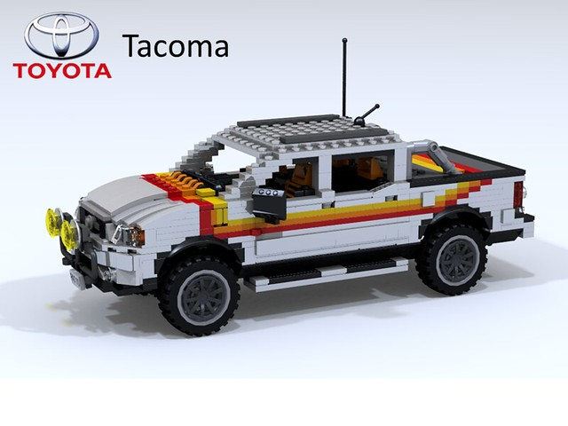 auto car model lego 4x4 yacht render cab stripe 4wd utility pickup double toyota tacoma custom tow challenge cad lugnuts povray moc 65th ldd miniland foitsop lego911 toyotatacomatime