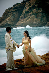 I will always love you..... ;-) (adam1801ng) Tags: wedding sea people love hongkong groom bride pentax candid k5iis