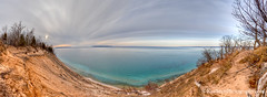 Pyramid Point Vista ... 4-5-13 (Ken Scott) Tags: sunset panorama usa clouds spring michigan shoreline lakemichigan greatlakes april vista freshwater voted leelanau pyramidpoint 2013 manitouislands foxislands fhdr sbdnl sleepingbeardunenationallakeshore mostbeautifulplaceinamerica