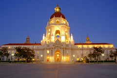 Passing thru Pasadena (Point & Shout) Tags: california longexposure wedding losangeles engagement nightshot cityhall ngc pasadena obama pasadenacityhall flickraward sigma1750mm nikonflickraward kimjongun rvsun