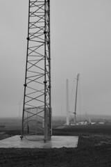 PENNY HILL WIND FARM, S YORKSHIRE_DSC1070XR BW B (Roger Perriss) Tags: blackandwhite tower field construction crane yorkshire s mast windfarm d600 pennyhill