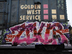 ZOUR (2ONE5-1981 (S.O.B.A.)) Tags: art oregon train bench graffiti northwest graf tags dirt spraypaint boxcar bombs westcoast steaks railroadtracks throwup handstyles taf americansteel evades hobomonikers