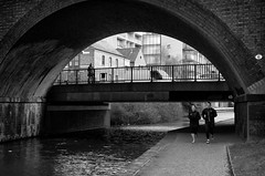 Bridges... (alfie2902) Tags: street nottingham uk people urban bw monochrome mono blackwhite pentax availablelight candid streetphotography streetportrait k5 smcpentaxda40mmf28limited blackwhitestreetphotography alfie2902 alfiewright