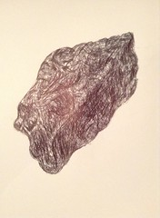 Pen study of rock (MarkByford) Tags: blackandwhite art rock artwork rocks jagged exam biro examprep penstudy