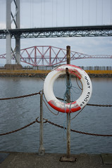 A sense of place (Lucky Poet) Tags: scotland lifebelt forthbridge southqueensferry forthroadbridge portedgar