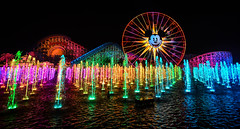 Let It Open Your Eyes (One-Drop) Tags: show color colour water disneyland disney resort fountains dca dlr californiaadventure disneycaliforniaadventure californiascreamin disneyscaliforniaadventure paradisepier californiascreaming worldofcolour worldofcolor funwheel mickeysfunwheel