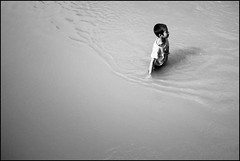 Ripples (Christer Johansen) Tags: boy white black water river fujifilm laos mekong x100