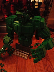 Latest Hulk PROGRESS (mmccooey) Tags: lego action figure superhero hulk marvel poseable