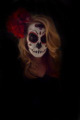 Dead 1 (whitehartphotography) Tags: red black girl dayofthedead facepaint