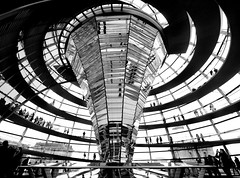 Inside the Reichstag Dome (DaveKav) Tags: berlin germany politics olympus reichstag cupola dome transparency openness lordnormanfoster platinumheartaward