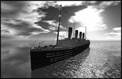 Titanic - Second Life 2 (Bleem Belargio) Tags: ocean sea waves ship sl secondlife titanic atlanticocean oceanliner rmstitanic