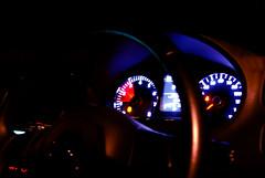 Rev counter (Nik-Heydel) Tags: longexposure cars volkswagen dashboard gti polo 2012 lighttrail revcounter volkswagenpologti