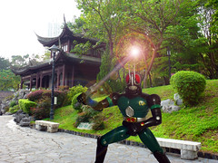 Masked Rider at Kowloon Walled City Park (Dragon Chan2009) Tags: park city black hong kong masked kowloon rider rx toei walled kamen  tokusatsu black