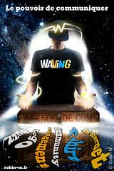 Waving ad (robin-m.fr) Tags: man photoshop power ad young agency advert waving publicit communicate pouvoir advertissement communiquer