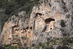 les tombes lyciennes de Dalyan (Dominique Lenoir) Tags: turquie tombs dalyan tombes lycian kaunos felsengrber lyciennes dominiquelenoir