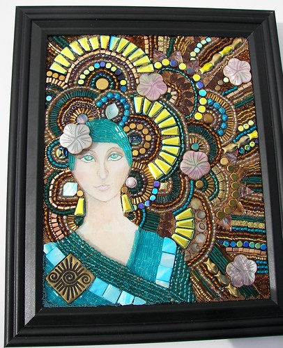 "Mixed Media Bead Mosaic ""Passage"""