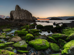 La Arnia sunrise (Herv D.) Tags: laarnia beach playa plage liencres santander cantabrie cantabria sunrise sunset leverdesoiled mer ocean sea atlantic atlantique espagne spain cte coast