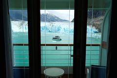 A stateroom with a view (lucy*d) Tags: dawesglacier endicottarm alaska disneycruiseline disneywonder alaskancruise cruiseship stateroom verandah glacier catamaran