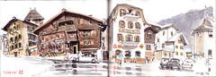 160711-1vissoie (Vincent Desplanche) Tags: sketch sketchbook sketching urbansketchers croquis carnetdevoyage suisse switzerland carandache neocolor seawhiteofbrighton valais valdanniviers wallis