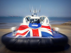 Solent Flyer (Jason 87030) Tags: hovercraft hovertravel solentflyer blur movement motion effect pse photoshop artistic transport sea portsmouth southse ryde esplande iow isleofwight color colour unionflag unionjack flag ocean solent trabel holiday passengers