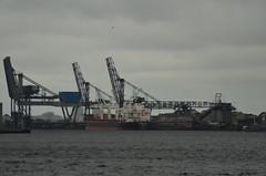 Infrastructure (-Kj.) Tags: westpoort amsterdam harbour port water cloud rain