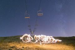 Snowing fire (Wajdi Hmissi) Tags: galaxy milkyway stars night nightphotography fire lightpaint beautiful sky lebanon cedars burning wow followforfollow nikon nikonphotography adventure art crazy