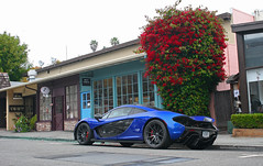 Best color (sumosloths) Tags: mclaren p1 blue spotted parked downtown carmel monterey car week pebble beach ocean avenue side street carspotting spotting montana california northern norcal mclrn mclrnp1 license plate 2016 sumosloths