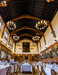 Queen's University Belfast North Ireland Great Hall Interior (HunterBliss) Tags: arches architecture beautiful belfast ceiling chandelier chandeliers cultural culture decoration elegant europe european famous floor great hall historic history impressive interior ireland landmark lights medieval north old panorama perspective queen room seeing sights texture tourism tourist travel university vertorama wood