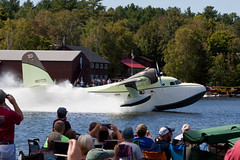 Nimbus Aviation Grumman G-111 (HU-16C) Albatross N51ZD (jbp274) Tags: greenville greenvilleseaplaneflyin 52b flyin mooseheadlake airplanes seaplane grumman g111 hu16 albatross crowd people lake water