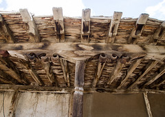Roof detail of a traditional house, Badakhshan province, Zebak, Afghanistan (Eric Lafforgue) Tags: afghan431 afghanistan architectural architecture badakhshanprovince builtstructure centralasia colourimage dari earthquakeproof horizontal house lowangleview nopeople nobody outdoors pamir photography roof roofing structure structures viewfrombelow wakhan wood woodroof wooden woodenroofing zebak