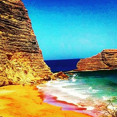 Montecristi Beach (akire XII) Tags: beach ocean sea blue colorful mar playa sand rocks waves nature summer paradise