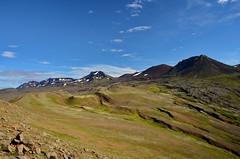 Snaefellsnes (Stebbi Skla) Tags: iceland mountains snaefellsnes hiking lavaflow mountaineering landscape mountain ridge outdoor lava mountainside