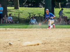 Playing the Infield (deepaqua) Tags: softball centralpark infielder nyc