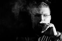 Judgment (matthasaname) Tags: nikon d2xs smoke smoker smoking cigar cigarportrait macanudo selfportrait people