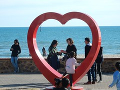 In Love With Life (mikecogh) Tags: glenelg love sea heart sculpture publicart tourists