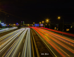 Speed in the city (Jotha Garcia) Tags: velocidad speed carretera road autopista highway luces lights trafico traffic madriz alcobendas puente town movimiento movement largaexposicion longexposure jothagarcia nikond3200 september septiembre verano summer 2016 elsotodelamoraleja madrid espaa noche night nocturna torres towers bbva lavela nikonflirckaward