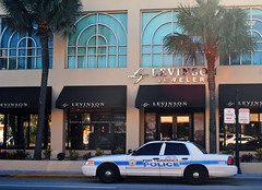 K9 shopping for a new collar? (Infinity & Beyond Photography) Tags: ft fort lauderdale police work dog patrol car vehicle ford crown vic victoria interceptor levinson jewelers lasolas boulevard