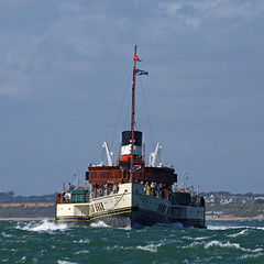 Head On (Treflyn) Tags: paddle steamer waverley point hurst castle solent sailing weymouth isleofwight timeline events