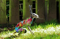 flowerbomb hare (adore62) Tags: feltedfido flowerbomb hare felted embroidered embroidery brooches