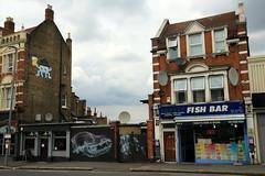 spaceinvader x shok1 (Luna Park) Tags: london walthamstow woodstreetwalls streetart mural production lunapark spaceinvader shok1 skull beer