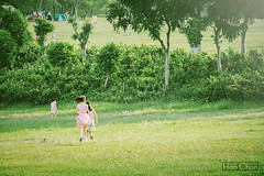 End of summer (Hao Chan Time Sample Studio) Tags: outdoor park green child portrait landscape kite canon summer