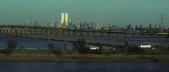 WTC 227 (stevensiegel260) Tags: worldtradecenter twintowers 1990s manhattanskyline newyorkskyline twilight sunset newjerseyturnpike newjerseymeadowlands