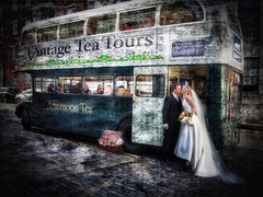 A very Dublin wedding (janetmeehan) Tags: streetscene city street bus vintage romance weddingphotography ireland dublin groom bride wedding