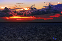 Mexico (crimsontideguy) Tags: sunset cloudsandsky caribbean water thesea cruise photoshop nikon scenic seascapes art cozumel mexico gulfofmexico nature skies storms sea